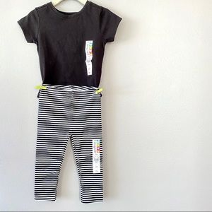 Nwt Black & White Outfit. Shirt, Legging